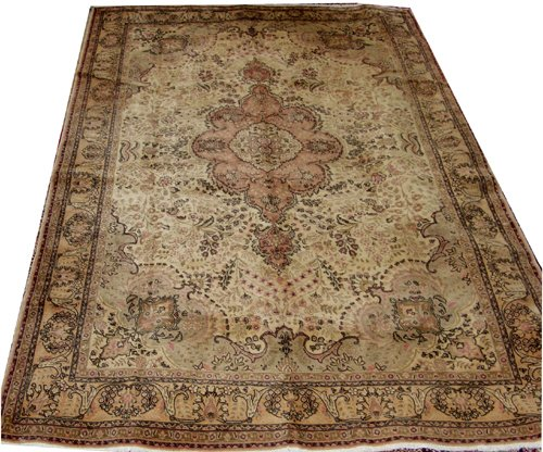 "040018: TABRIZ PERSIAN WOOL RUG, 6' 6"" X 10' 9"""