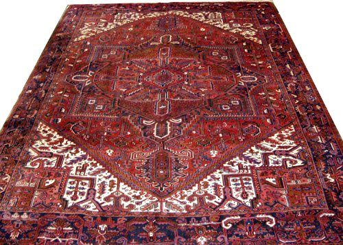 "040020: HERIZ PERSIAN WOOL CARPET, 10' 2"" X 13"""