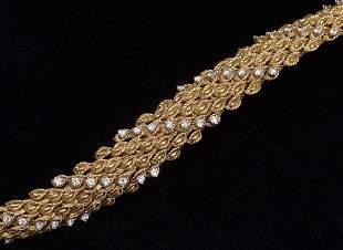 18KT GOLD BRACELET, DIAMOND