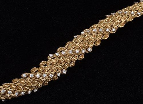 041001: 18KT GOLD BRACELET, DIAMOND