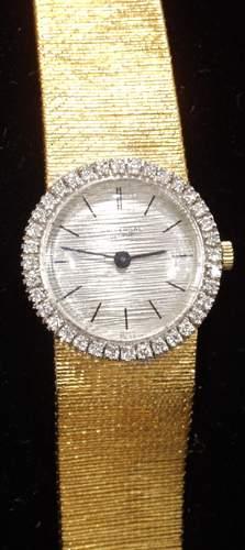 GENEVE, SWISS 18KT GOLD LADIES WATCH, DIAMOND