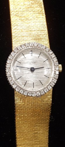 041002: GENEVE, SWISS 18KT GOLD LADIES WATCH, DIAMOND