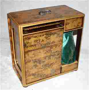 JAPANESE GOLD LACQUER PICNIC CABINET