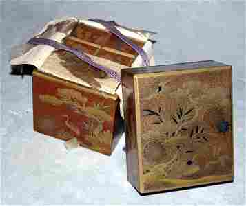 041144: JAPANESE LACQUER INCENSE BOX