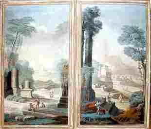 CLASSICAL ITALIAN OIL ON CANVAS LANDSCAPE PANEL