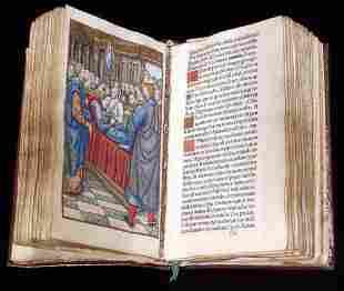 INCUNABULA - ILLUMINATED BOOK OF HOURS