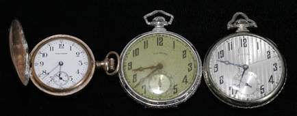 042508 GOLD FILLED OPEN FACE ILLINOIS POCKET WATCHES