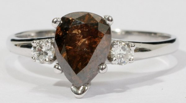 030008: 1.5CT. NATURAL CHOCOLATE COLOR DIAMOND RING