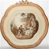 030470: REPRODUCTION PRINT, COURTING SCENE W/3 FIGURES