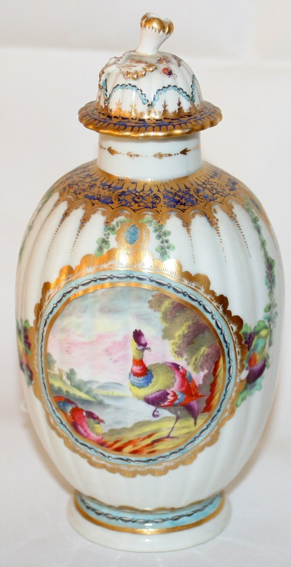 """031013: DR. WALL WORCESTER COVERED URN 18TH C. H 6 1/2"""""""