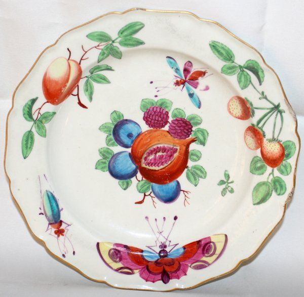 """031015: WORCESTER LONDON-DECORATED PLATE C.1770, DIA 9"""""""