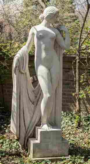 EUROPEAN CAST CEMENT MONUMENTAL SCULPTURE, EARLY 20TH