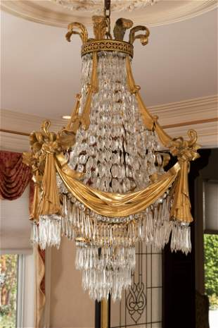 FRENCH SECOND EMPIRE STYLE CHANDELIER
