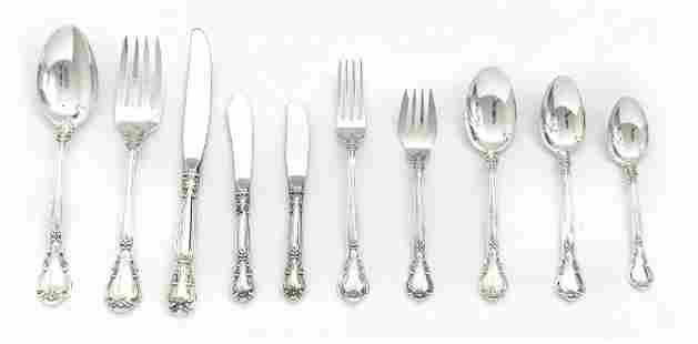 "GORHAM ""CHANTILLY"" STERLING SILVER DINNER SERVICE 75"