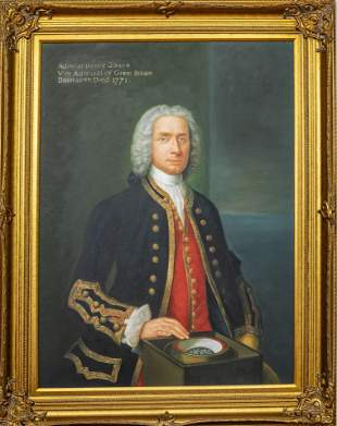AFTER CLAUDE ARNULPHY, OIL ON CANVAS BOARD, PORTRAIT OF
