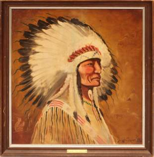"""SIGNED D.C. WHEELER, OIL ON CANVAS, H 30"""", W 27"""","""