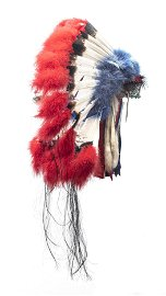 NATIVE AMERICAN BEAD AND FEATHER HEADDRESS, 2ND HALF