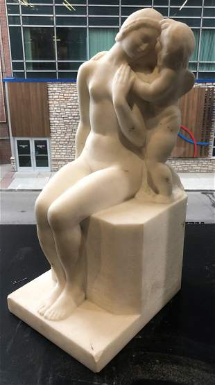 JEAN JOACHIM (FRENCH, 1905-1990) MARBLE SCULPTURE,
