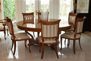 VENETIAN GIEMME, DINING ROOM SET, 8 CHAIRS, SIDEBOARD