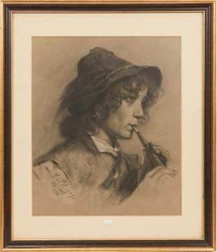 FRANCESCO HAYEZ (ITALIAN, 1791-1882) CHARCOAL ON PAPER,