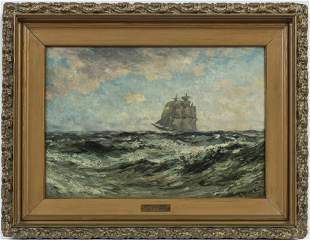 ROBERT HOPKIN (AMERICAN, 1832-1909) OIL ON MASONITE, C.