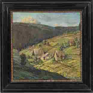 ANTON WOLF (AUSTRIA, 1895-1924) OIL ON BOARD, 1922, H