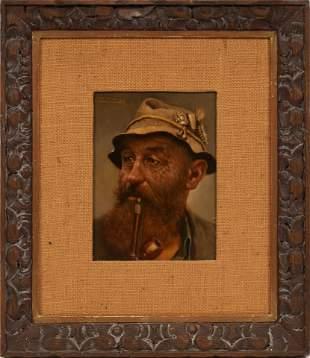 "BERNHARD FUNKE, GERMANY 1902 - 88, OIL ON BOARD H 9.2"""