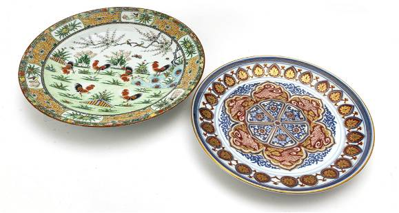 """CHINESE ROSE MEDALLION CHARGER 19TH.C. DIA 13.5"""""""