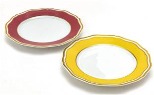 LIMOGES A. RENAUD FRENCH PORCELAIN, FIRED GOLD EDGE