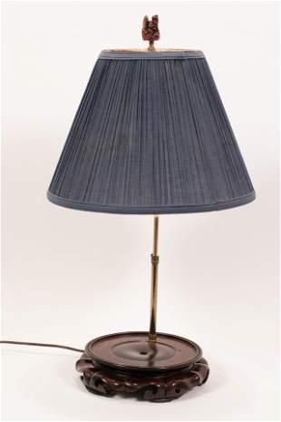 "LAMP BASE WITH SHADE. H 26"""