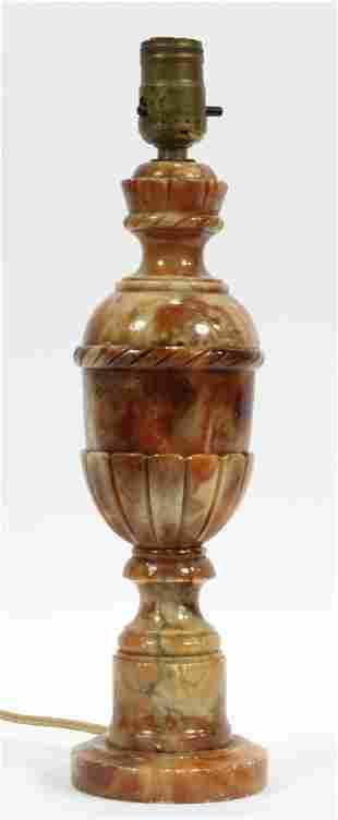 "ITALIAN MARBLE LAMP, C. 1930 H 16"""