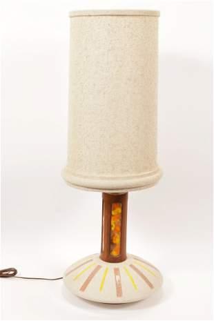 "MID-CENTURY MODERN LAMP H 22.5"" D 15"""