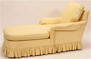 """BAKER FURNITURE CO CHAISE LOUNGE H 33"""" W 27"""" L 66"""""""