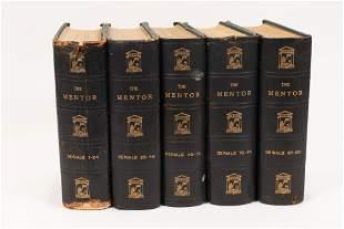 """THE MENTOR"""" SERIALS 1-120, C. 1900, 5 PCS, H 9.5"""", W"""