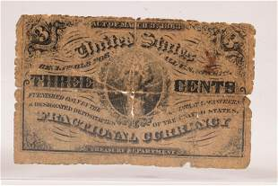 U.S. .03C FRACTIONAL PAPER CURRENCY NOTE, #1226, GEORGE