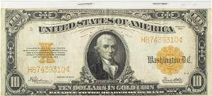 $10.DOLLAR GOLD CERTIFICATE LG.PAPER CURRENCY