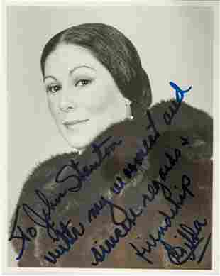 AUTOGRAPHED PHOTO SIGNED 'FROM GILDA' - 'TO JOHN