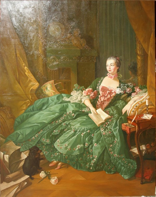 """040005: AFTER FRANCOIS BOUCHER, OIL ON CANVAS, """"MADAME"""