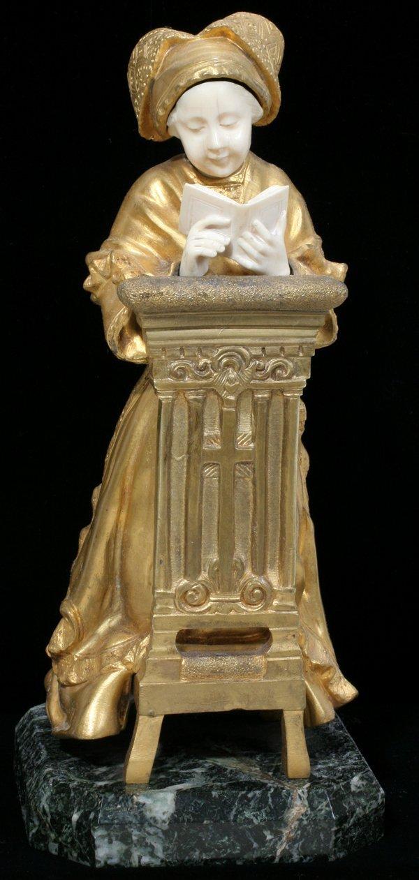 041013: THEOPHILE FRANCOIS SOMME GILD BRONZE SCULPTURE