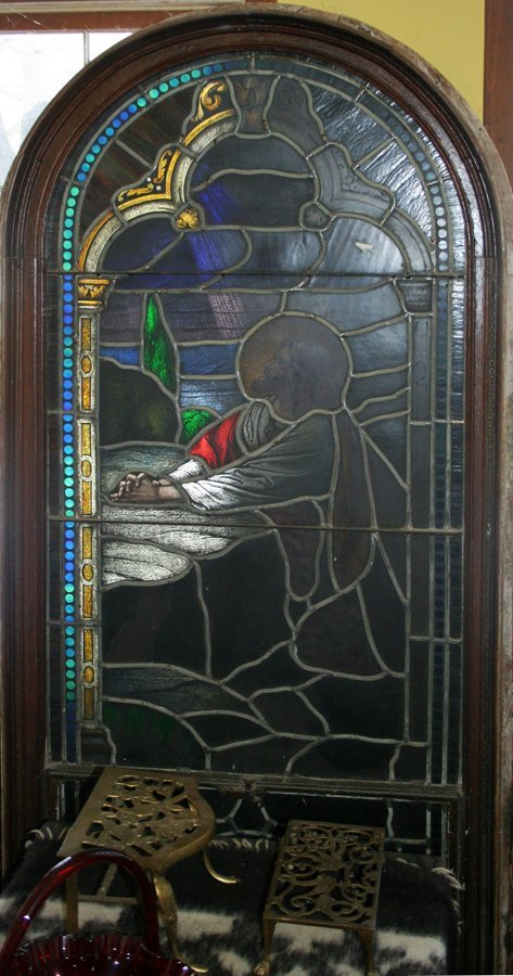 050002: STAINED GLASS WINDOWS, C. 1890-1910, PAIR
