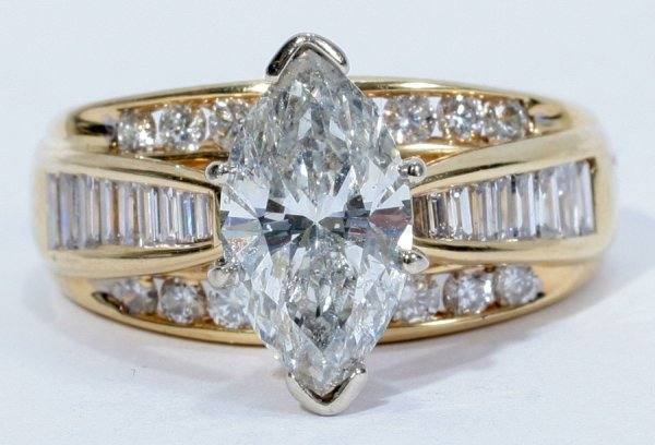 050005: 14KT YELLOW GOLD & 2.00CT DIAMOND RING