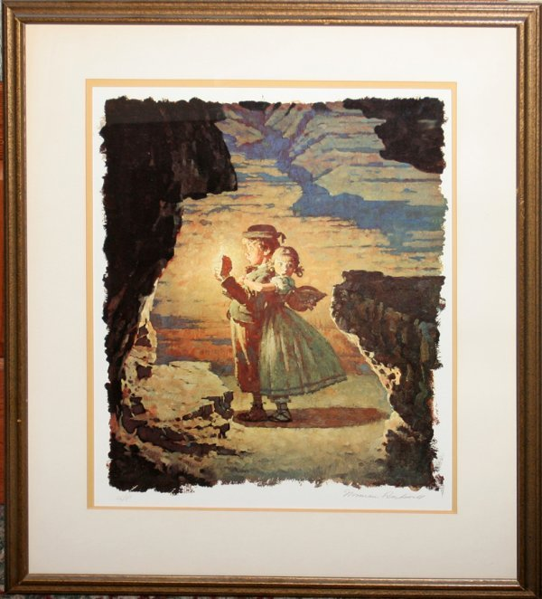 050024: NORMAN ROCKWELL, COLOR LITHOGRAPH, TOM SAWYER