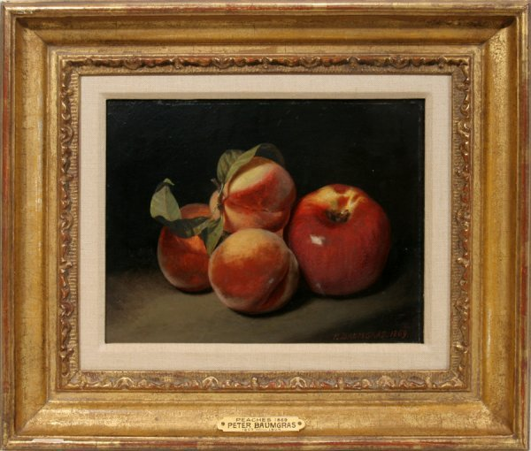 "052001: PETER BAUMGRAS, OIL ON BOARD, 1869, 8"" X 10"","