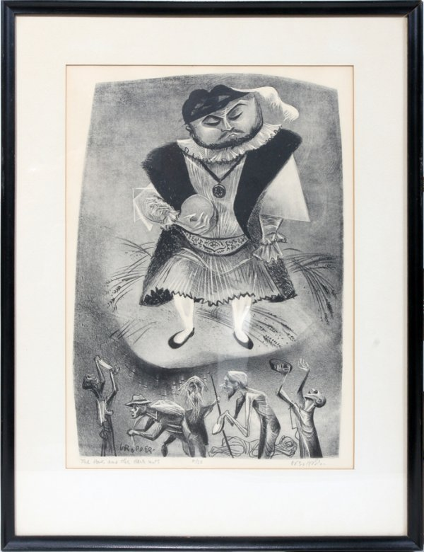 "052014: WILLIAM GROPPER, LITHOGRAPH, 14"" X 9"", AMERICAN"
