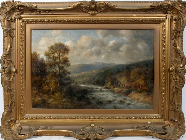 "052018: WALTER GRIFFIN OIL/CANVAS 20"" X 30"" LANDSCAPE"