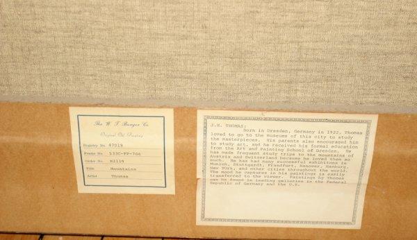 "052152: J. H. THOMAS, OIL ON CANVAS, C. 1960, 24"" X 36"" - 4"
