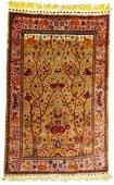 TABRIZ PERSIAN TREE OF LIFE SILK PRAYER RUG