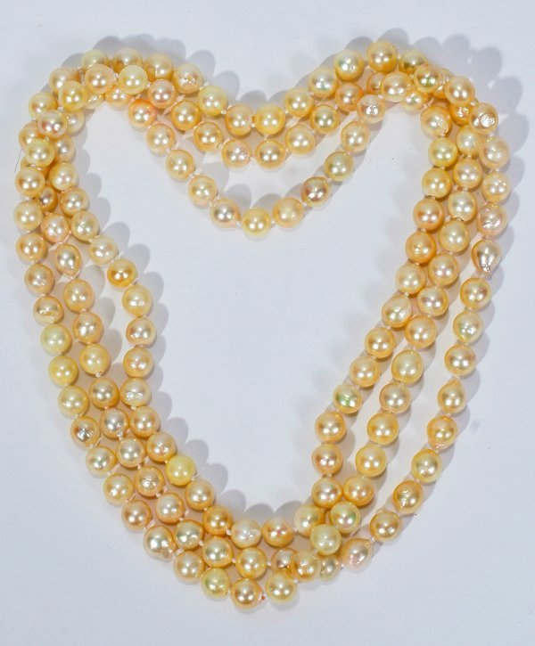 060010: GENUINE JAPANESE CULTURED PEARL WRAP NECKLACE