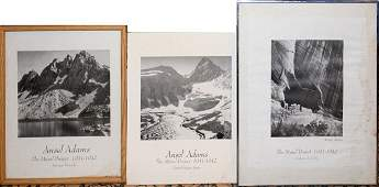 060471: ANSEL ADAMS, BLACK AND WHITE PRINTS ON BOARD