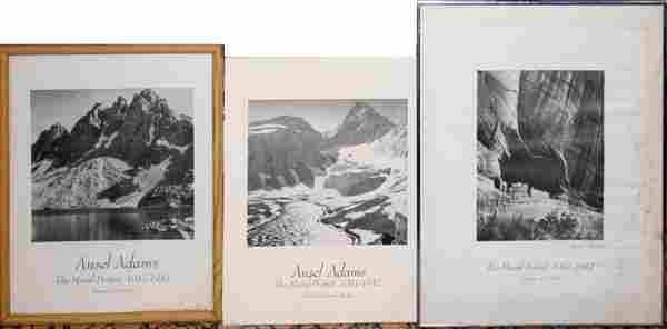 ANSEL ADAMS, BLACK AND WHITE PRINTS ON BOARD
